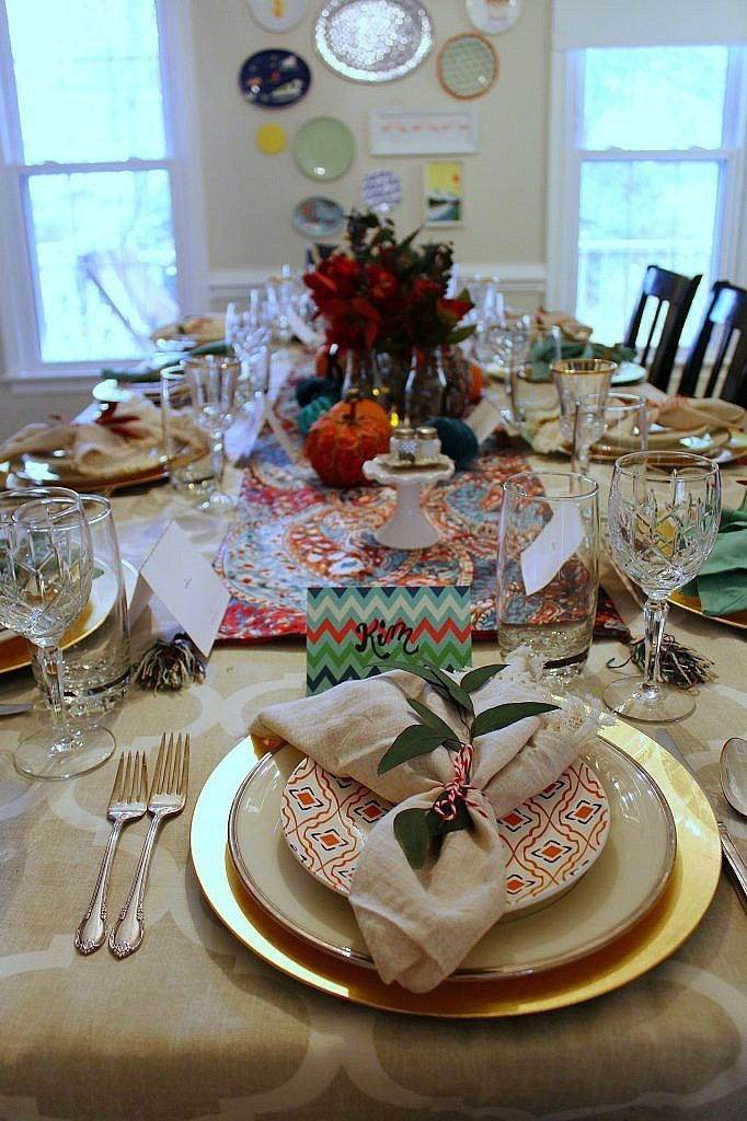 thanksgiving table - length view