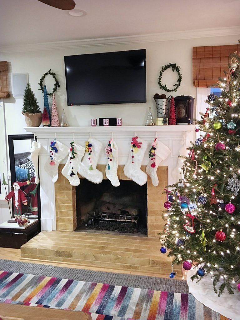 Christmas Fireplace-from front