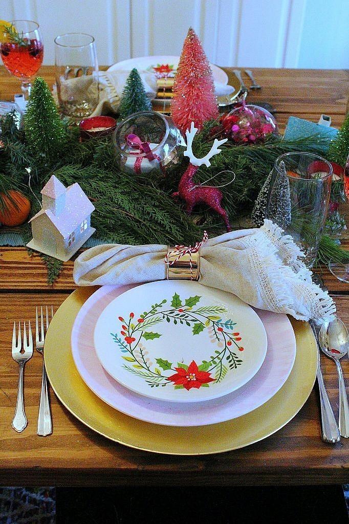 vintage Christmas - salad plates