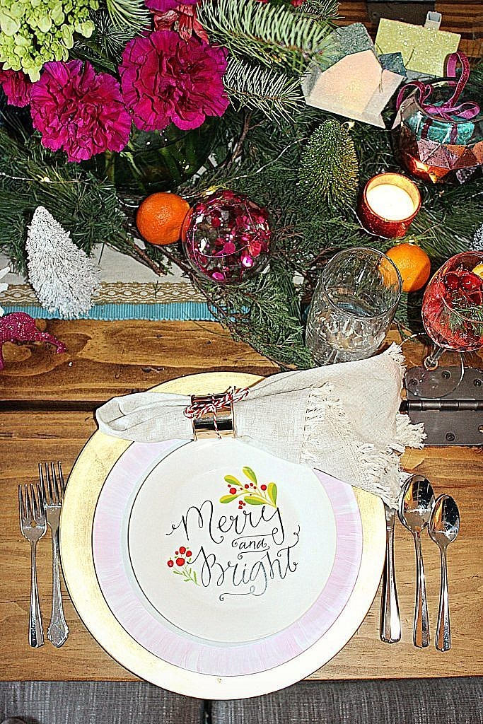 vintage Christmas-tablesetting 3
