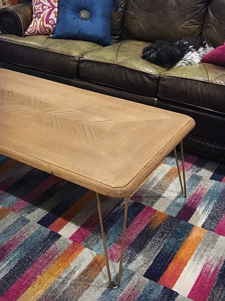 Hairpin leg Coffee Table - Finished unstyled
