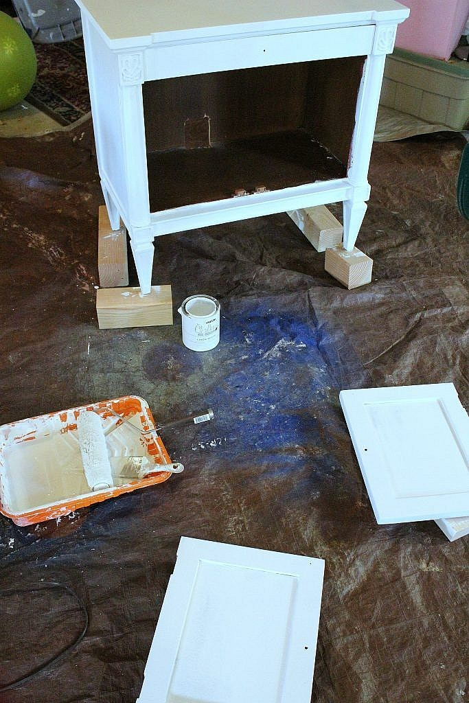 console cabinet - painting