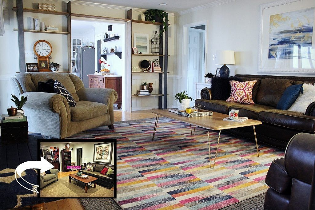 Eclectic Modern - Before and After Collage