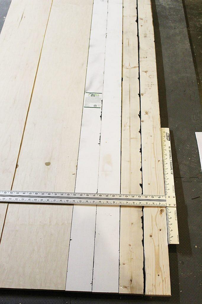 Wall Shelves - mark holes across all