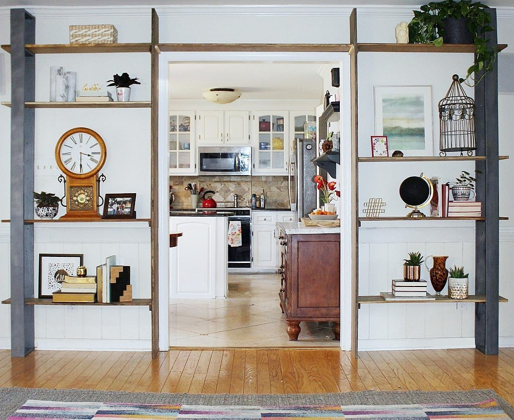 wall-mounted bookcases