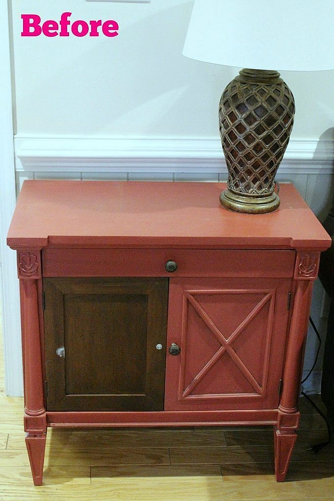 console cabinet-Before with text
