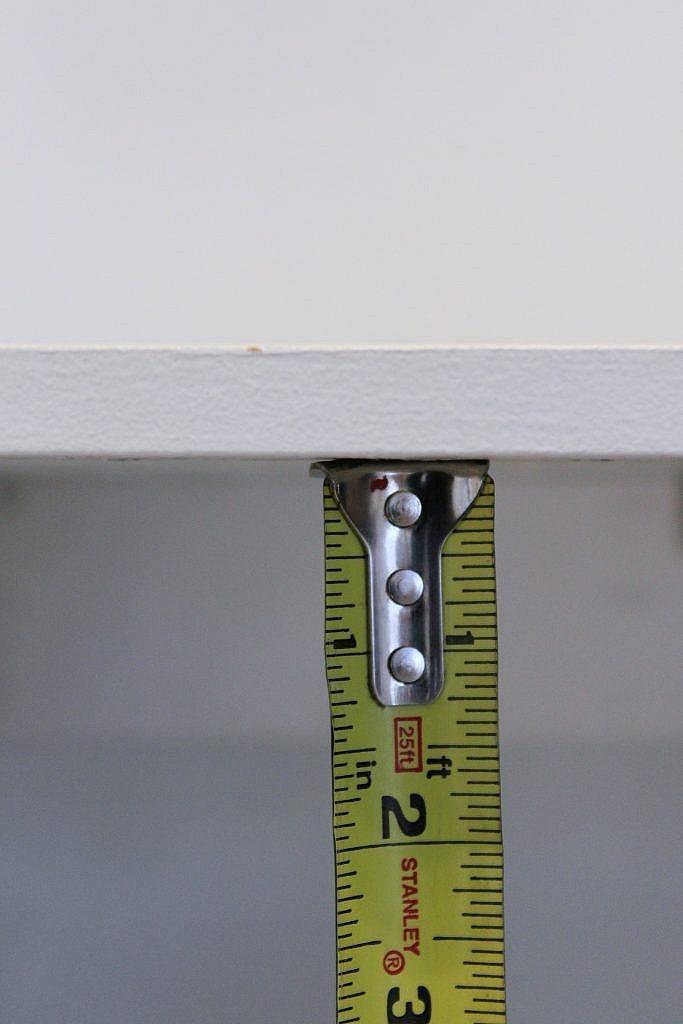 floating table - measure inside