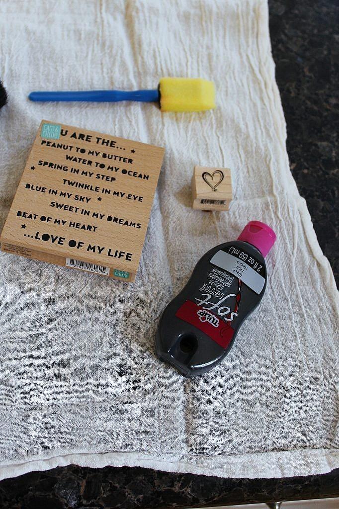 materials - stamped napkins