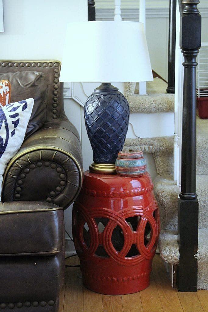 eclectic modern- garden stool