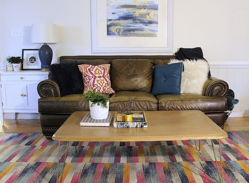 eclectic modern - sofa and side table