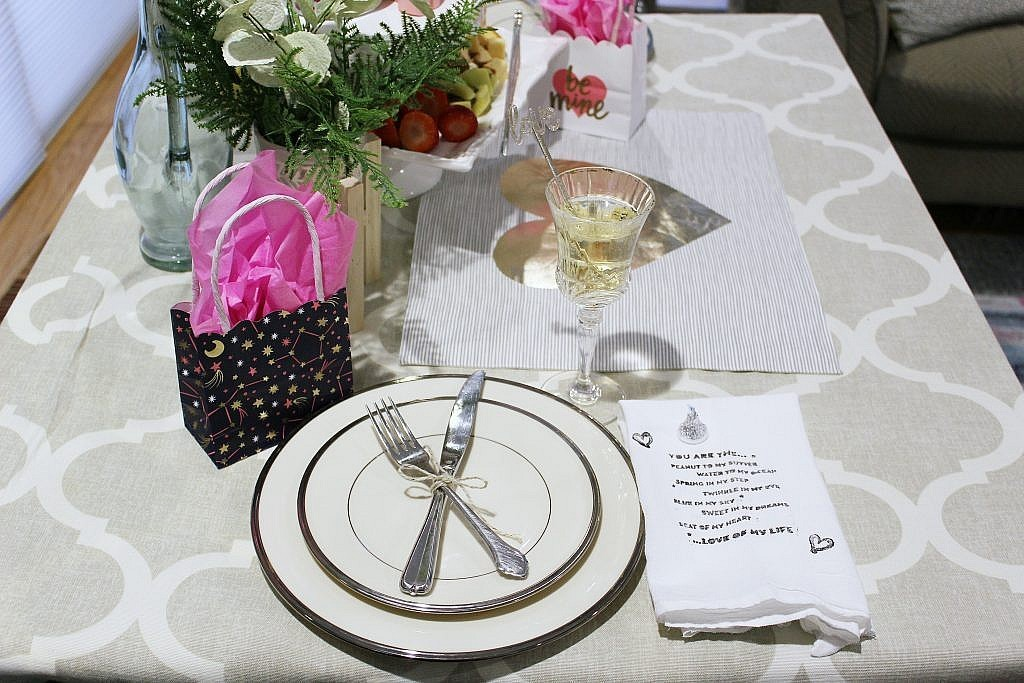 valentines table for two - cross my silverware