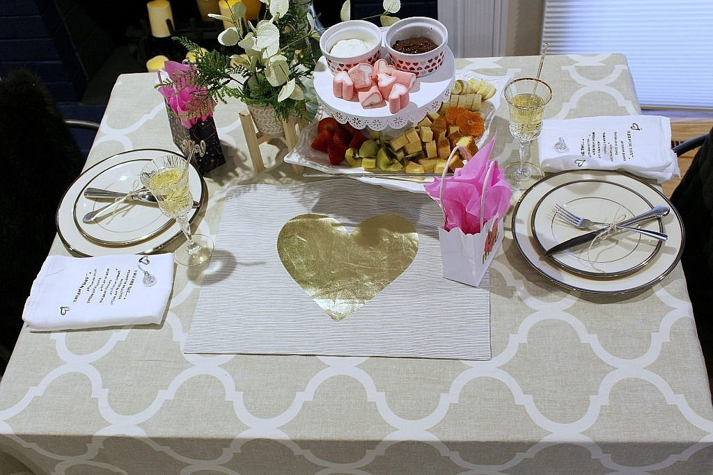 valentines table for two - from top