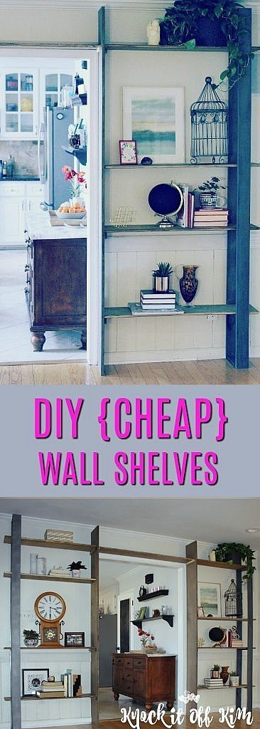 DIY mounted shelving