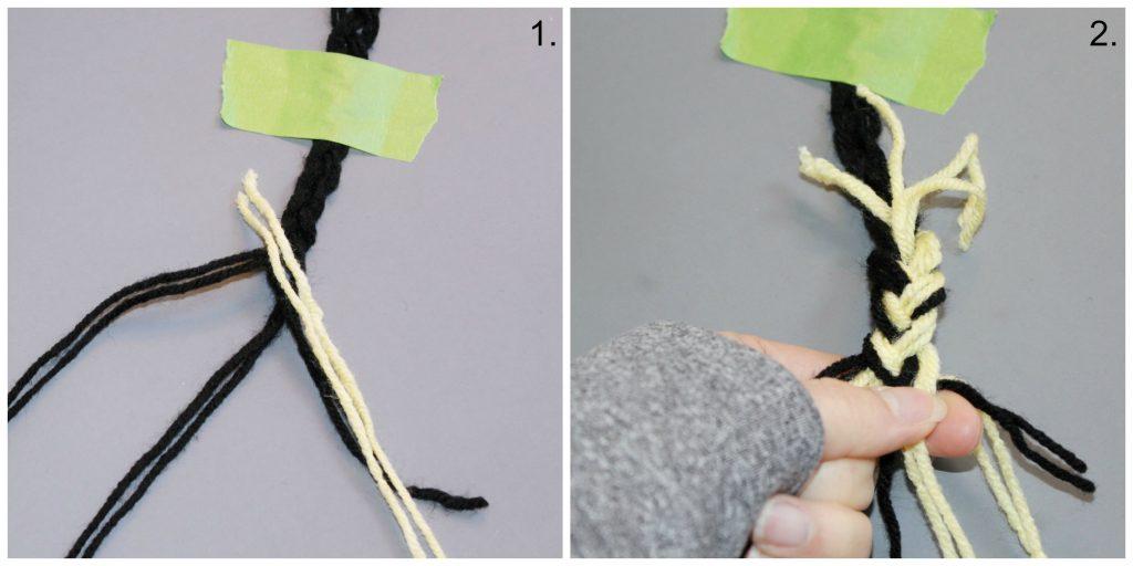 Braided Pom Pom Rug- add a strand and braid