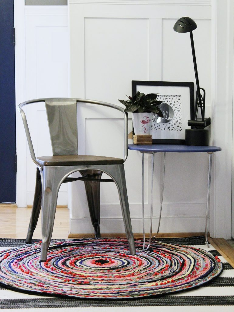Braided Pom Pom Rug-cropped