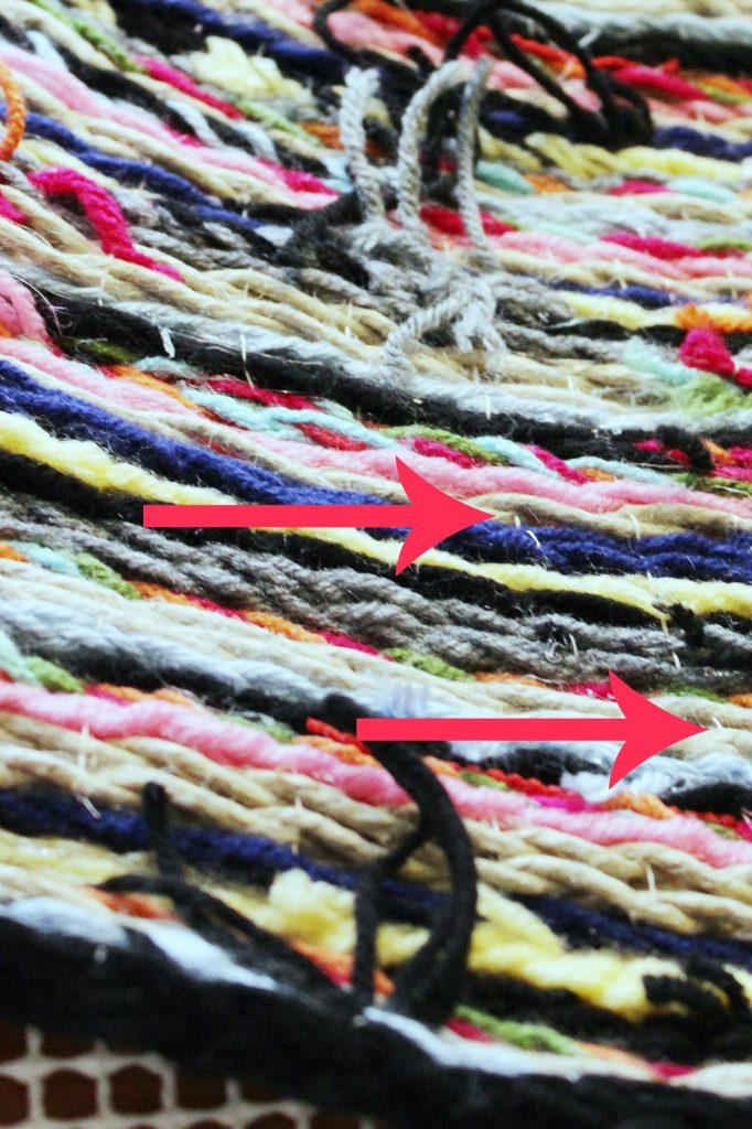Braided Pom Pom Rug-sew for stability