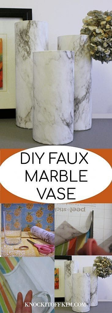 how to make a faux marble vase