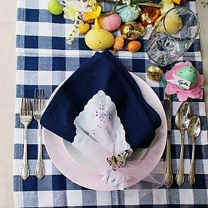Easter Table Decorations - Setting