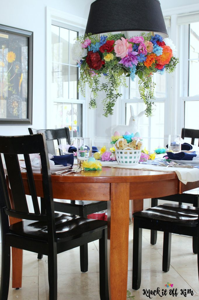 Easter Table Decorations - breakfast room