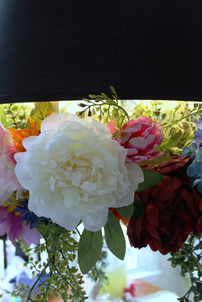 Easter Table Decorations - floral closeup