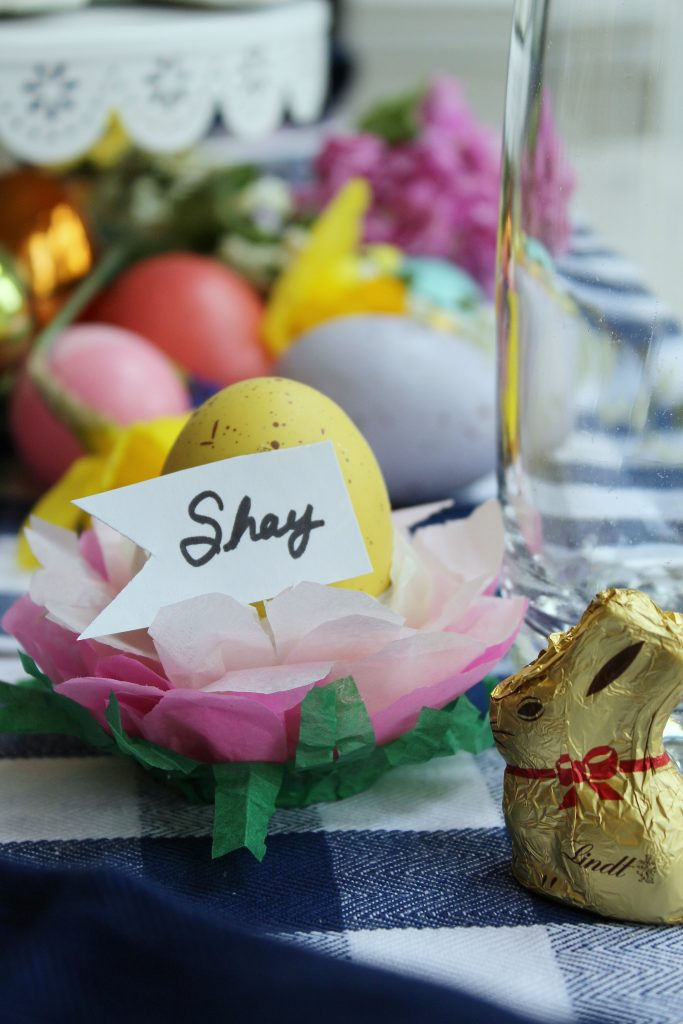 Easter Table Decorations - place marker