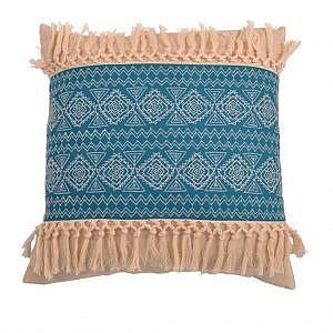 bungalow rose orellana embroidered natural fringe throw pillow