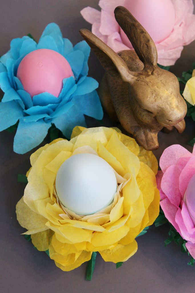 egg stand Easter Decorations - yellow ombre