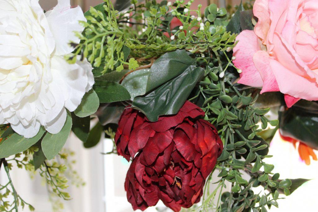 flower chandelier - big blooms