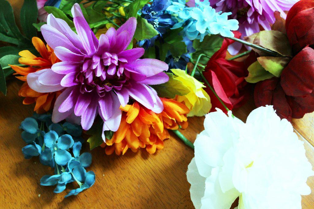 flower chandelier - flowers