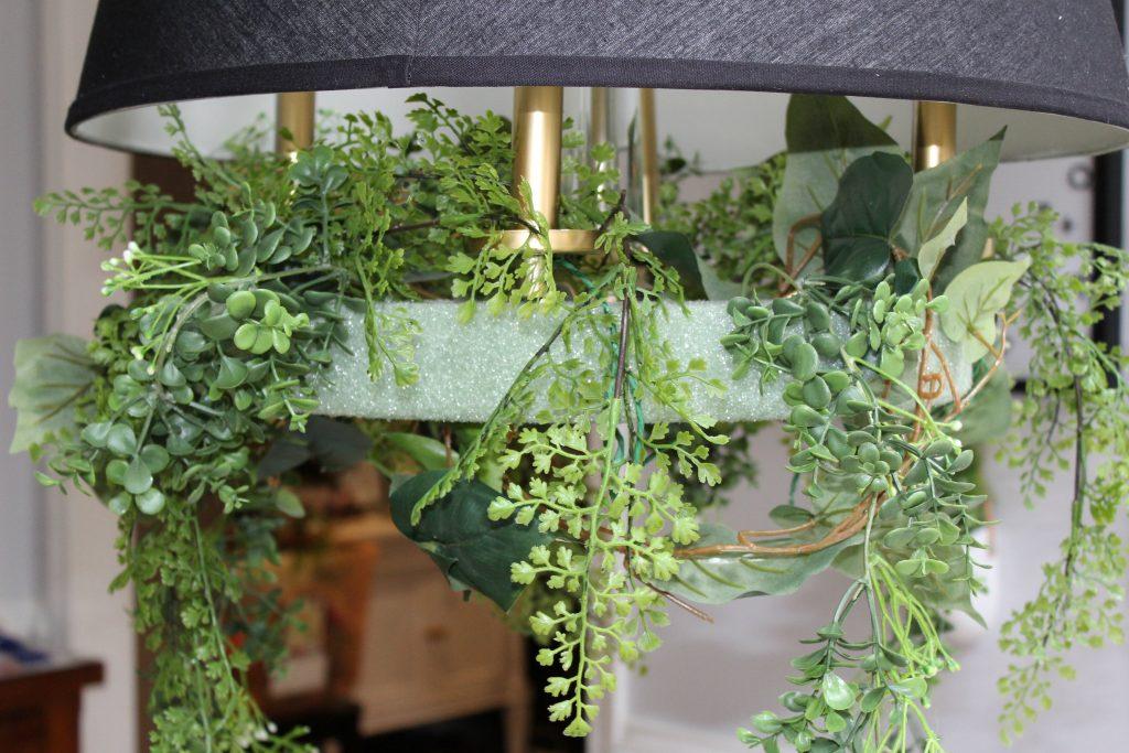 flower chandelier - greenery 2