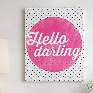 hellow darling print