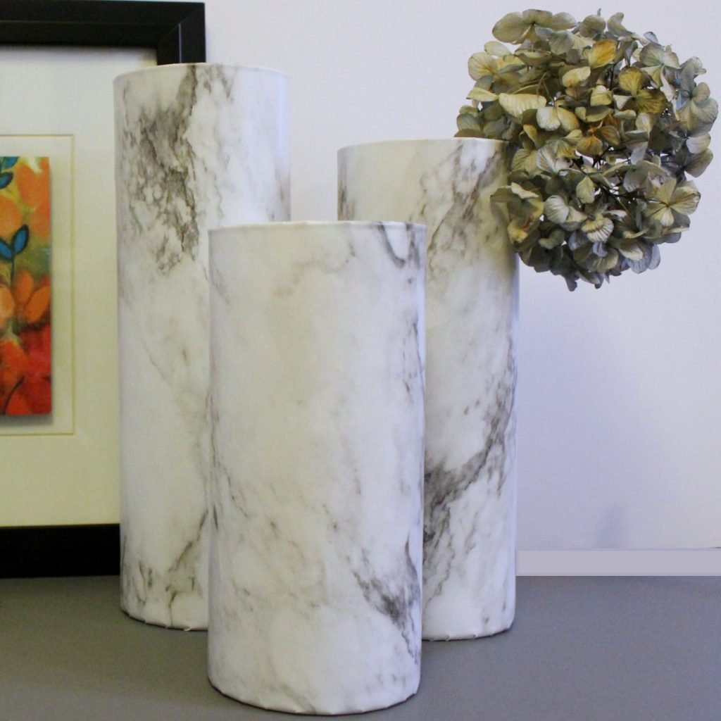 How To Make A Gorgeous But Easy Diy Faux Marble Vase
