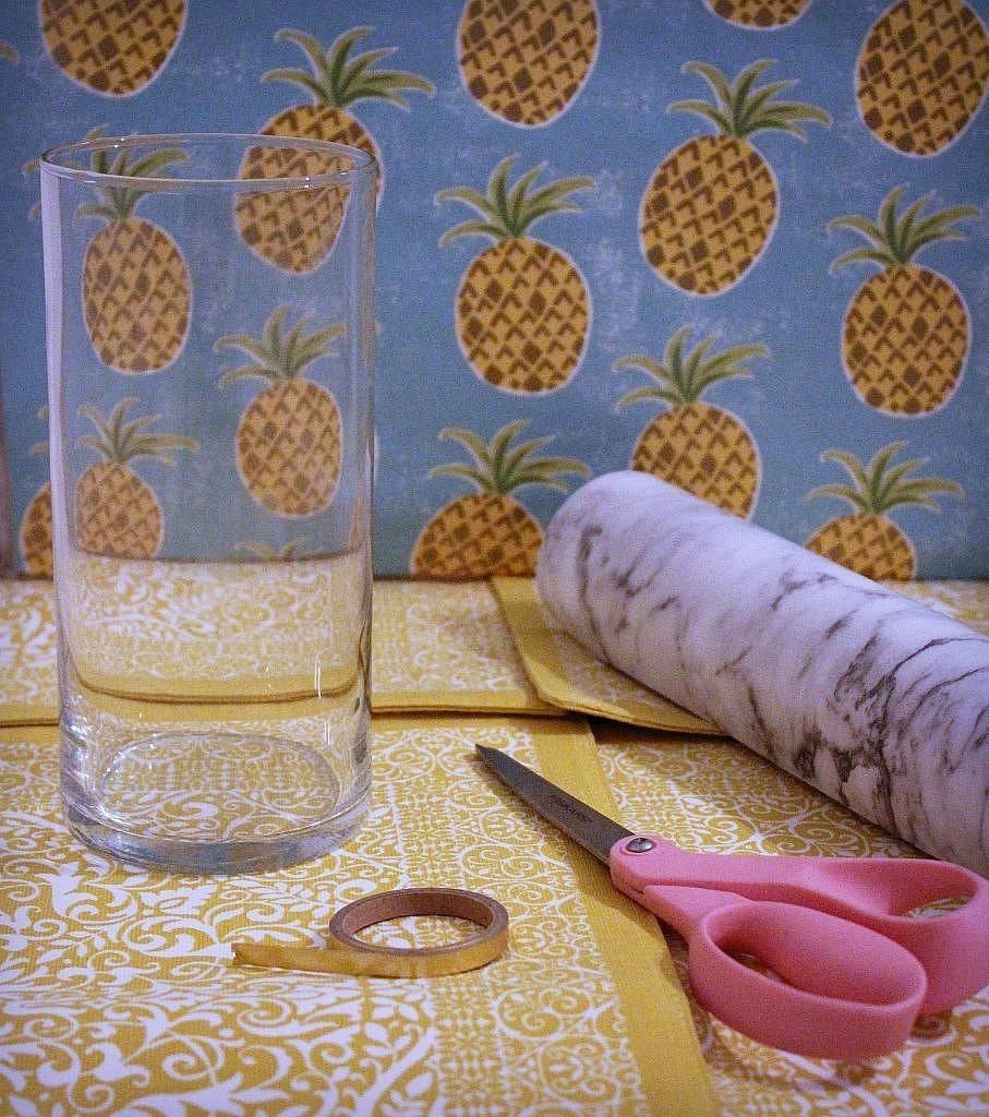 marble vase - materials