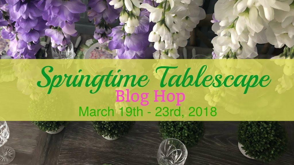 springtime tablescape 2018 image
