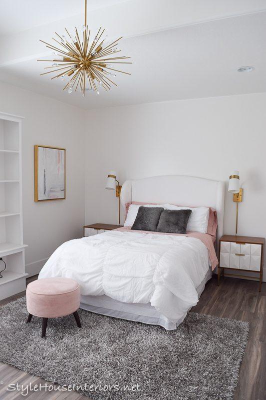 Boho Glam White Bedroom Makeover