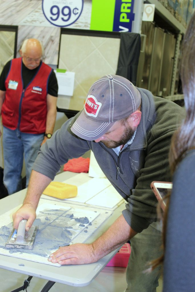 Drywall Repair - The Upskill Project - tile grouting1