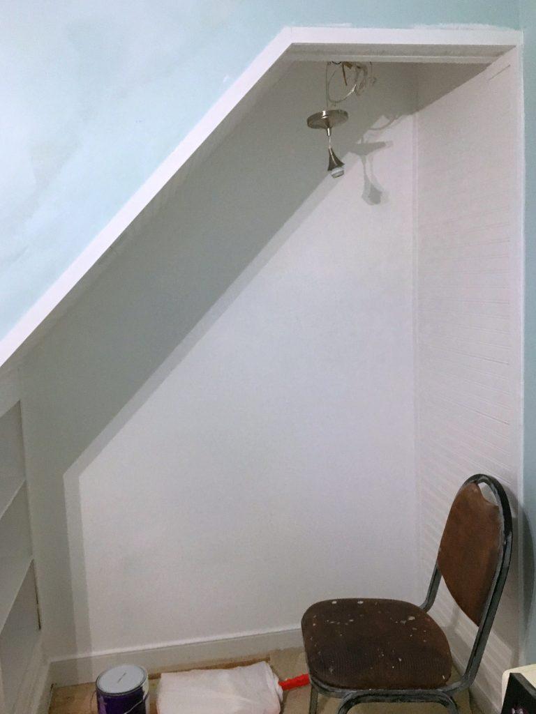 closet bed nook - add trim