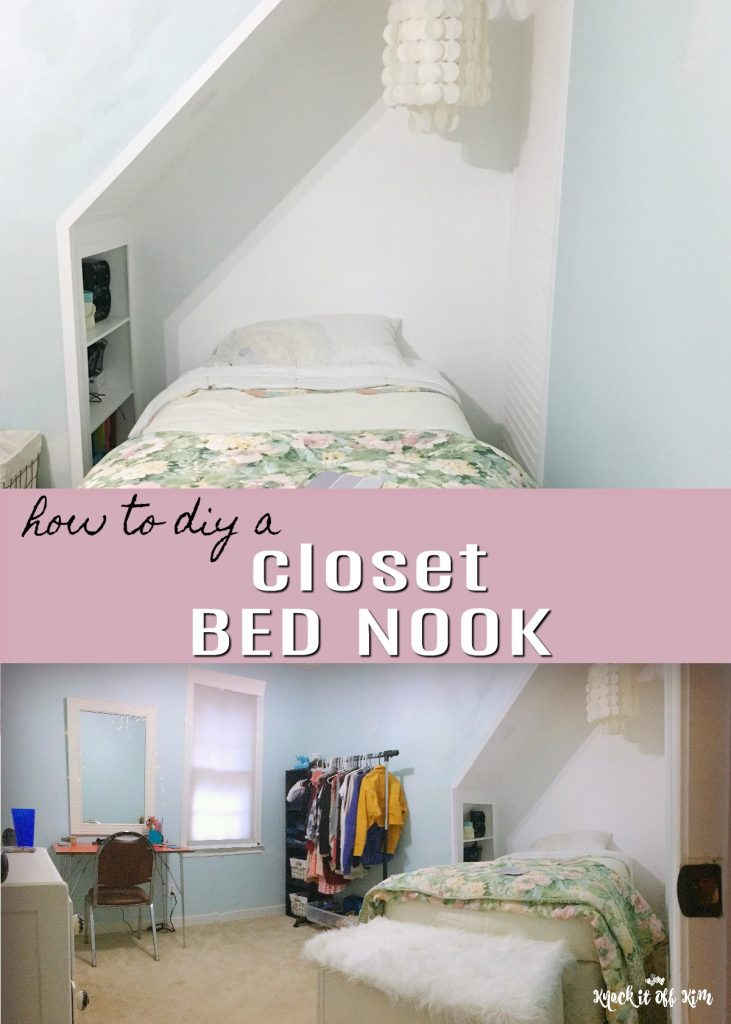 Build A Closet Bed Nook To Increase Space In A Small Room