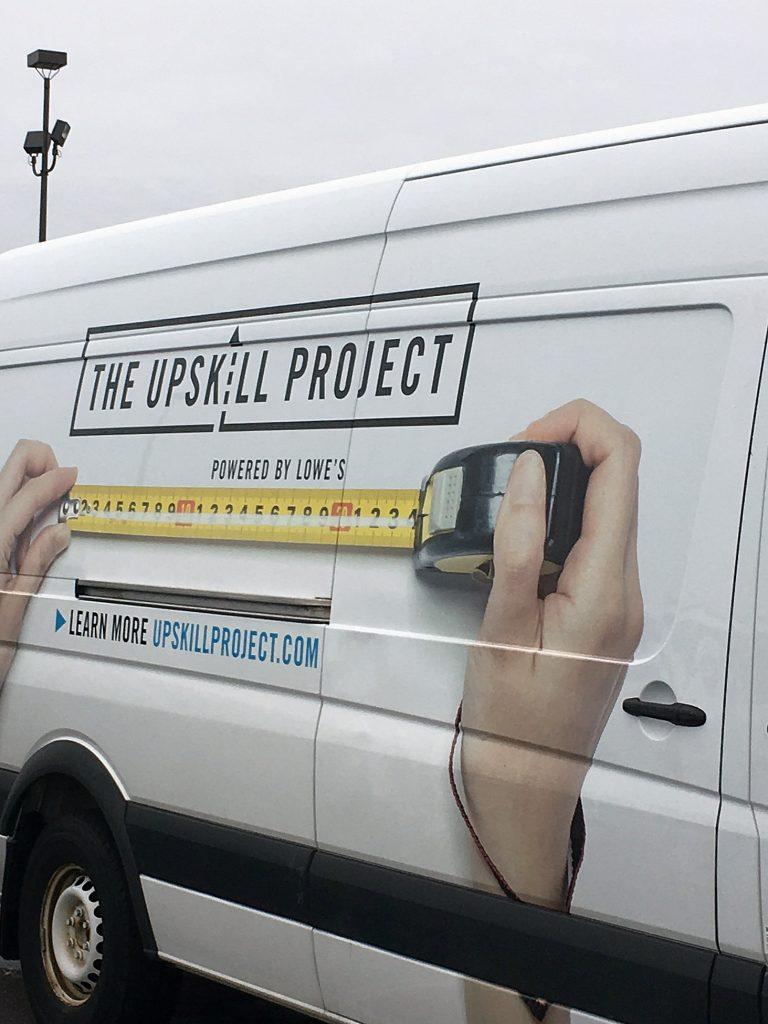 Drywall Repair - lowes truck
