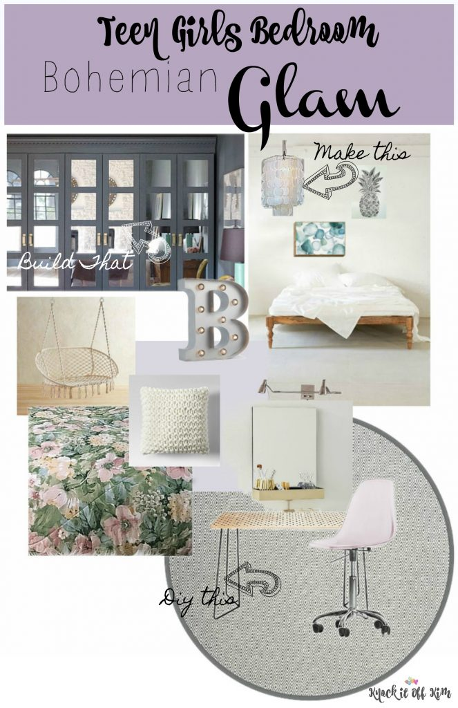 teen girls bedroom plan