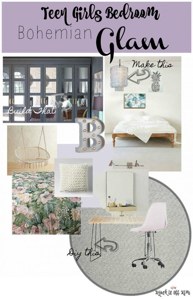 teen girls bedroom plan
