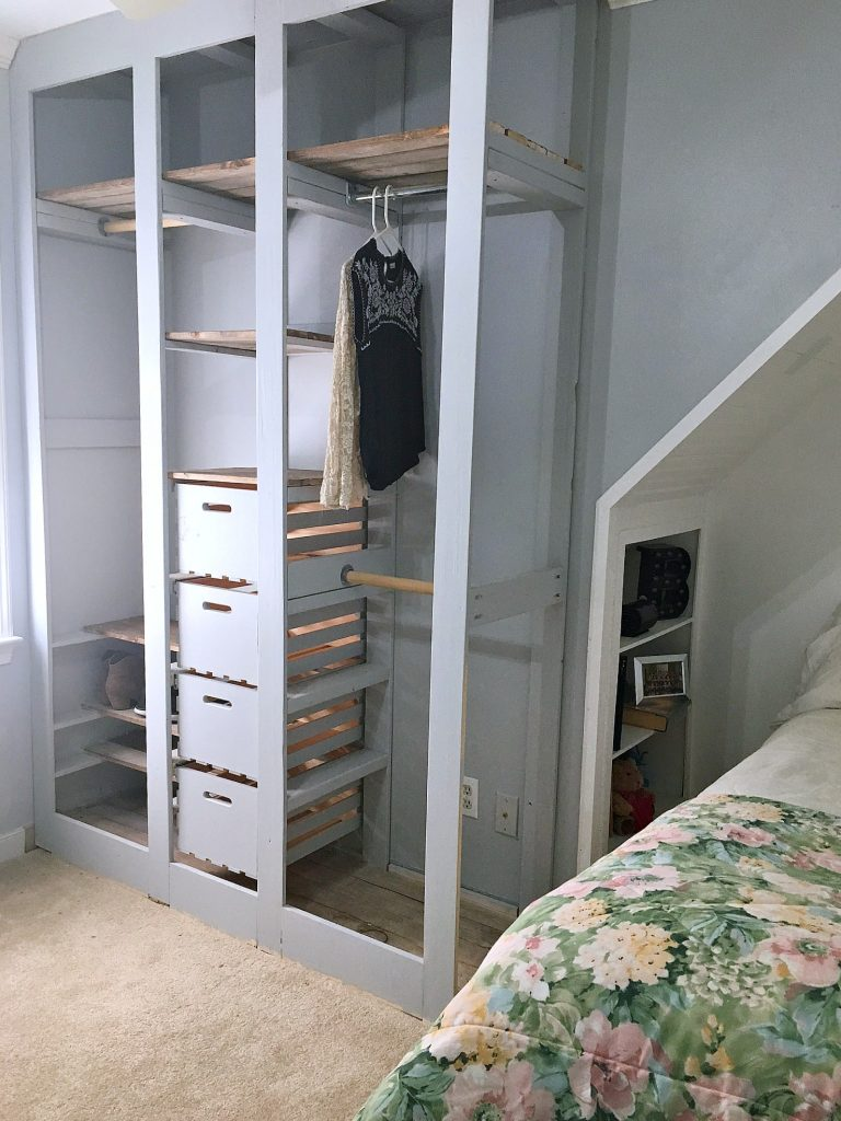 wardrobe closet - no clothes