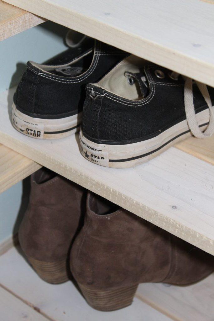 wardrobe closet - shoe shelves