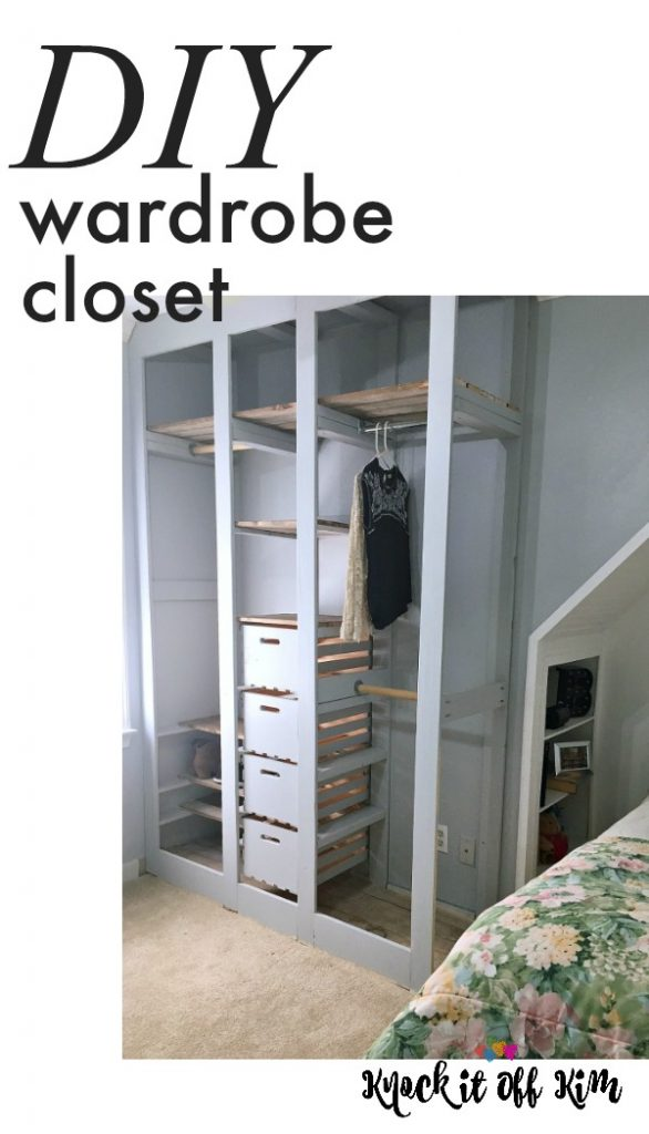 Wardrobe Closet Diy Built In Stand Alone Closet For Small Room