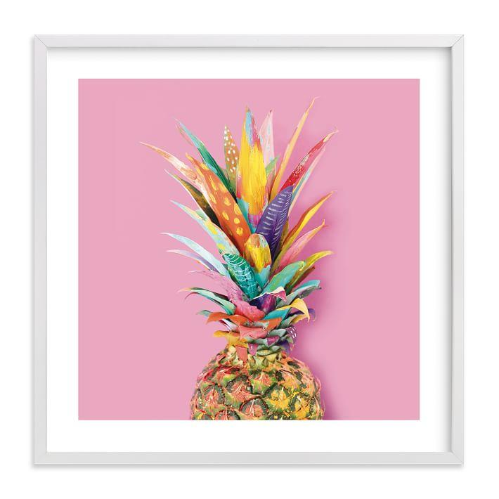 pineapple home decor - Colorful Pineapple Print