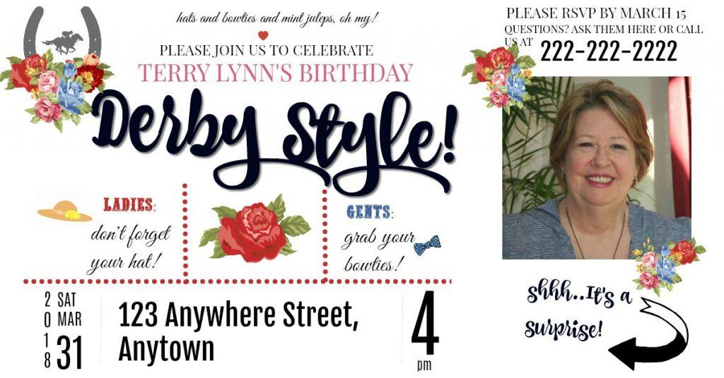 Derby Party- Invite