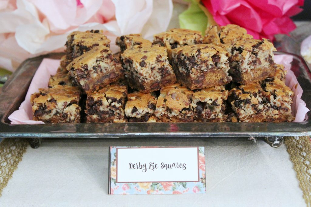 Kentucky Derby Party - Derby Pie Squares