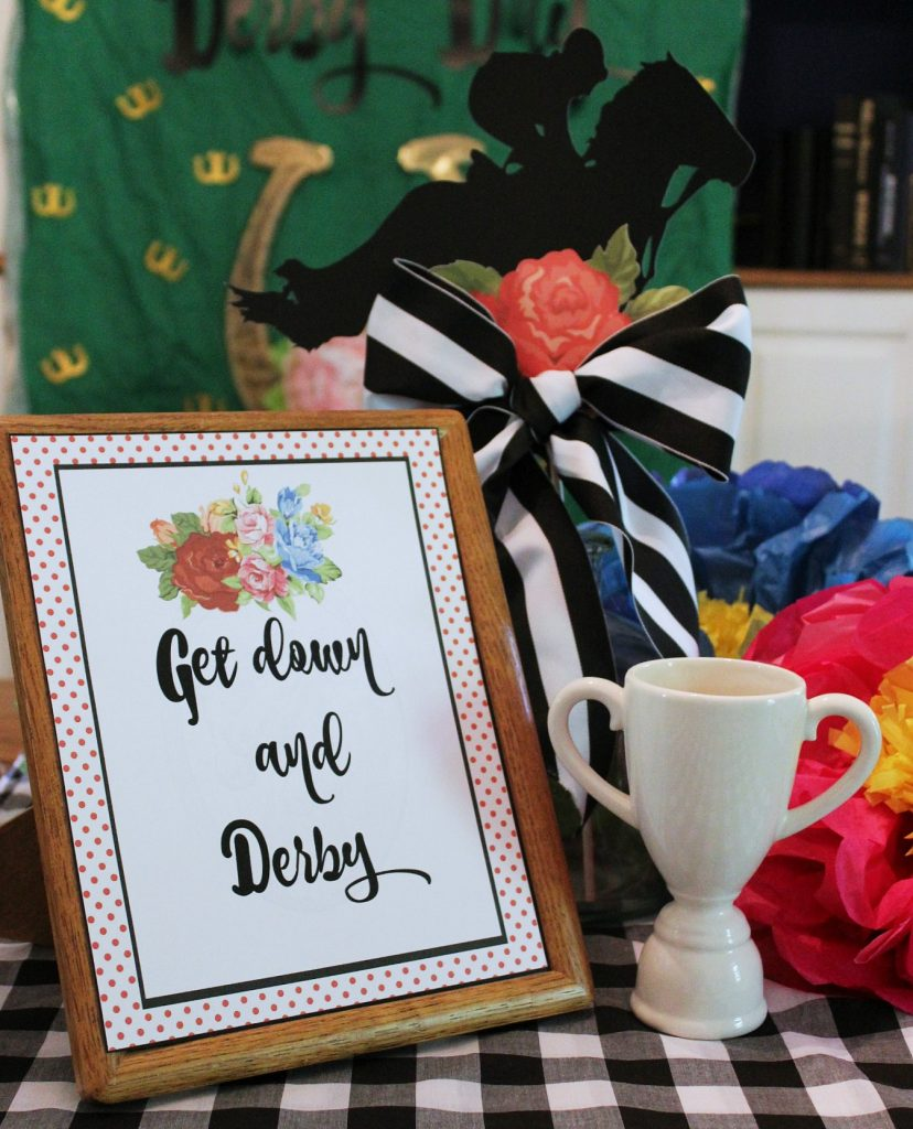 Kentucky Derby Party - Floral Centerpiece - Dining Room
