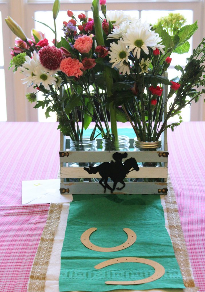 Kentucky Derby Party - Floral Centerpiece - Kitchen