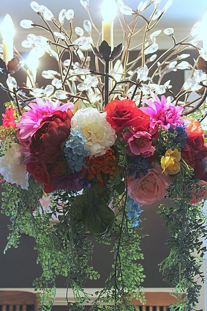 Kentucky Derby Party - Floral Chandelier Wreath